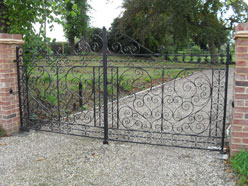 Hand scrolled/clipped driveway gates