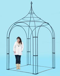 6ft square arbour - with hand forged 'cage' finial