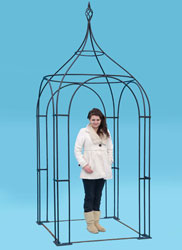 4ft square arbour - with hand forged 'cage' finial
