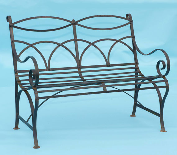 Scrolled bench seat (2 or 3 seats)