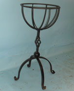 Lovley plant stand with hand forged scrolls and cage