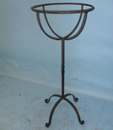 Planter on stand with hand forged scrolls
