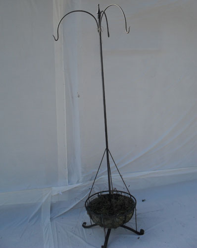 Planter with 3 hanging basket brackets