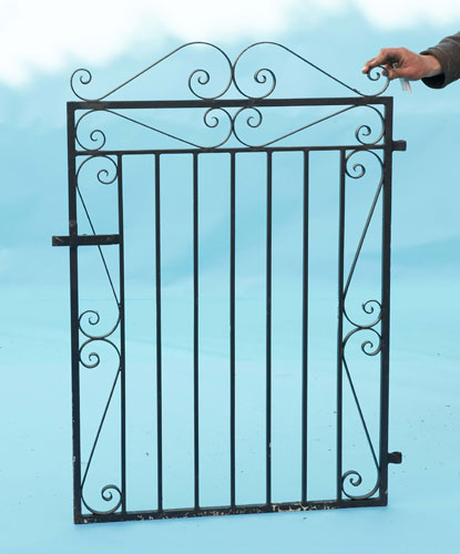 Small gate - with hand forged scrolls