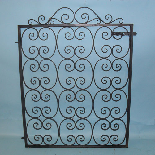 Very pretty gate - filled with hand forged scrolls