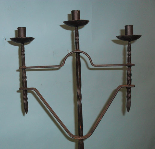 Tall floor standing candelabra - close up detail