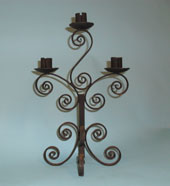 Table top candlebra - made totally out of hand forged scrolls