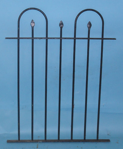 Short railings with hoops and hand forged spears