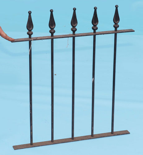 Railings with 'pear drop' finials