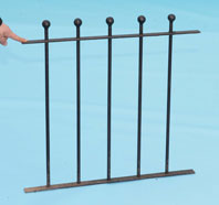 Railings with Hand Forged Ball Finials
