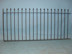 Railings with hand forged spear finials