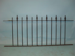 Railings with three dimiensional finials