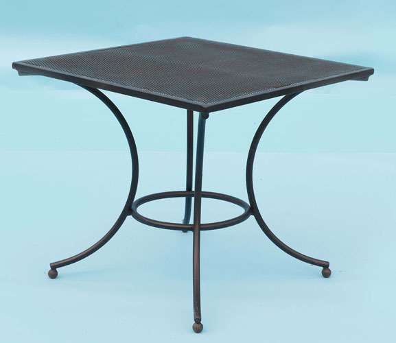 Square table with perforated top - seats 4