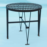 Round slatted table with (double legs) - seats 4